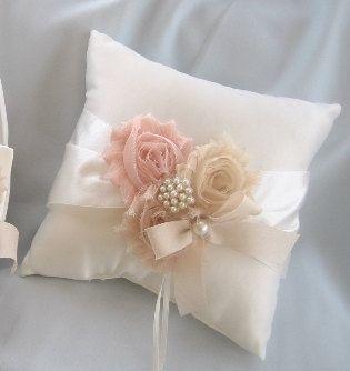 Wedding Ring Pillow Ring Bearer Pillow Shabby von nanarosedesigns, $23.00