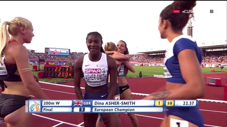 Dina Asher-Smith 200m Women's Final European Athletics Championships Ams...