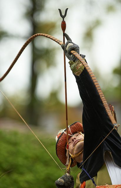 Yabusame (mounted archery) Festival, Kamakura, Japan. A tradition dating back one thousand years.