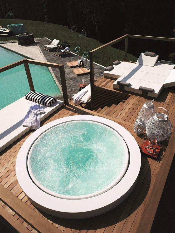 Built-in round hot tub MINIPOOL by Kos by Zucchetti | #design Ludovica+Roberto Palomba @zucchettikos
