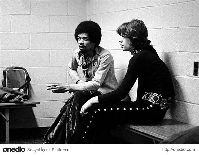 Jimi Hendrix ile Mick Jagger, 1969
