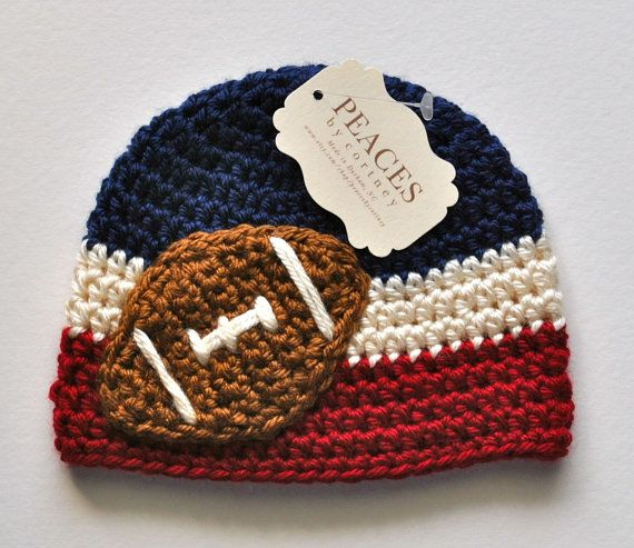 This red and blue football hat is a great way to keep your little Rebel warm in the Grove!