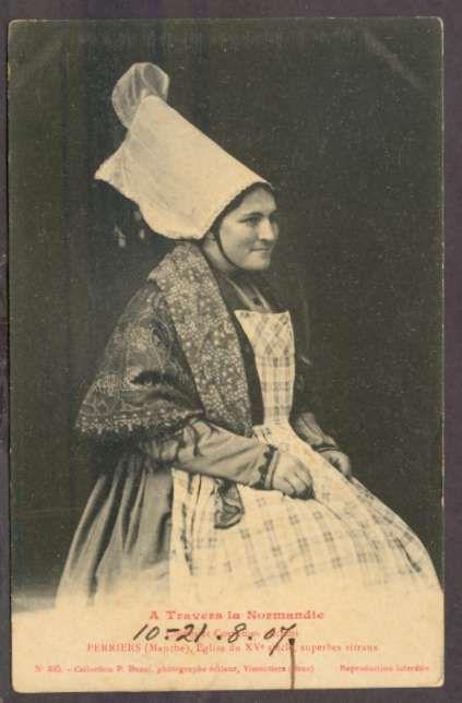France Postcard A Travers La Normandie Costumes 1907