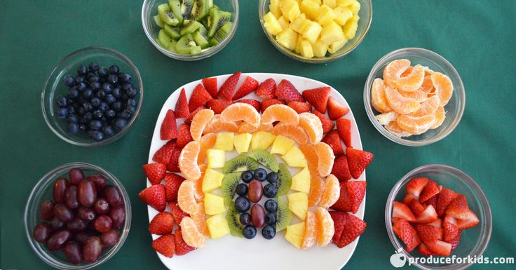 This Rainbow Fruit Tray will be a hit at St. Patrick's Day celebrations! Easily sub out your favorite fruit of the same color for a customizable snack. Serve alongside a yogurt fruit dip for dipping.