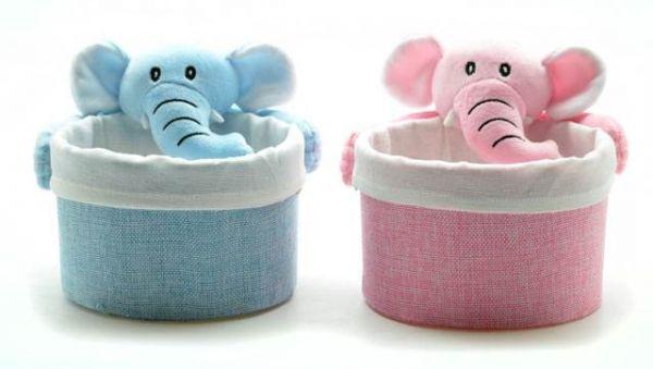 Pongotodo Elefante Claro - Portadotodo elefante claros, 2 colores, entre rosa y azul.