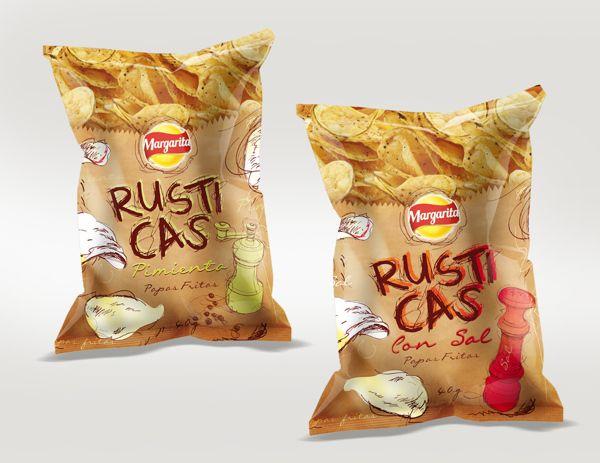 papas fritas rusticas by Juan Carlos Zuluaga niño, via Behance