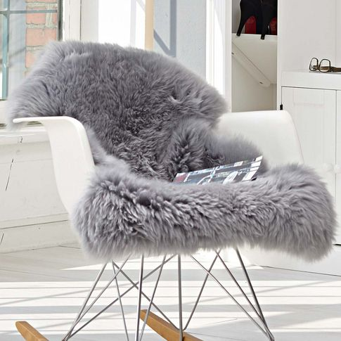 Brand New Extra Large Grey Genuine Merino Sheepskin Real Sheep Fur Rug