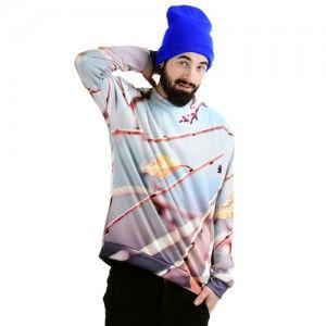 Bluza Oversize Hipster z nadrukiem GAŁĄZKA unisex