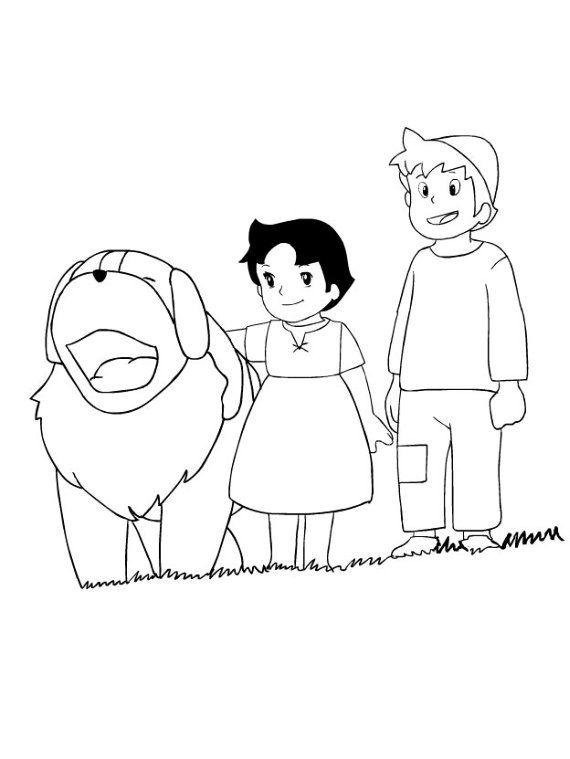 Dibujo de Heidi para imprimir y colorear (13 de 27 ...