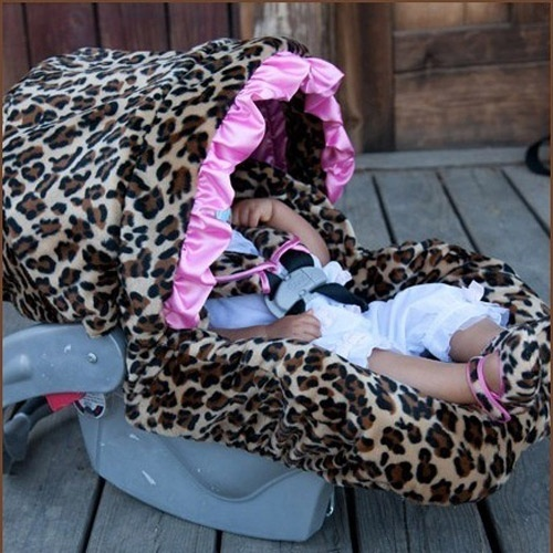 Giraffe Print Stroller And Car Seats