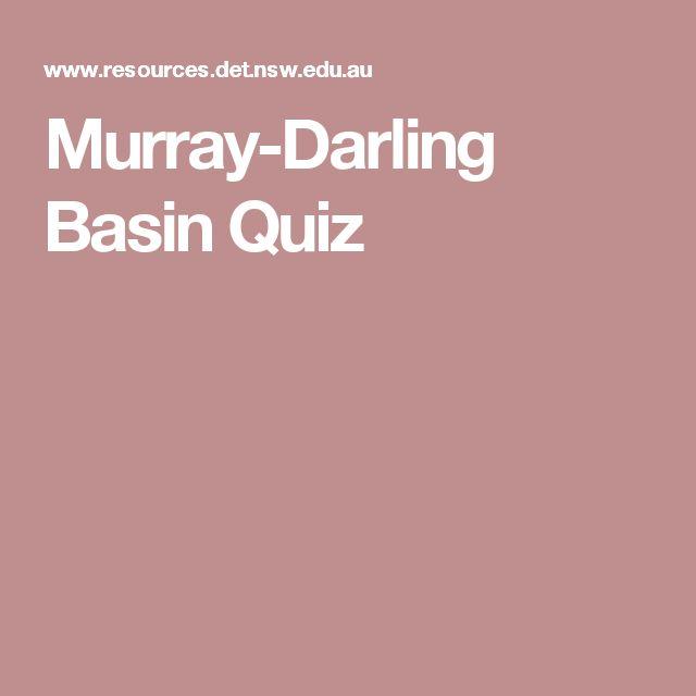 Murray-Darling Basin Quiz