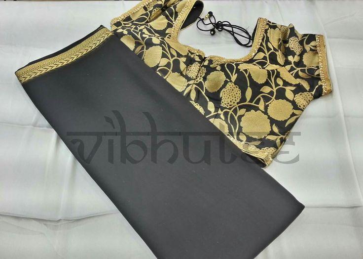 When in Doubt Wear Black - Somebody Said We Are just Giving You the Options.. #saree #india #mumbai #fashion #designer #sari #bollywood #shopping #shop #fame #mulund #sari #makeinindia #silk #handloom #onlineshopping #unique #masterclass #weddingfashion #blacklove #black #saris