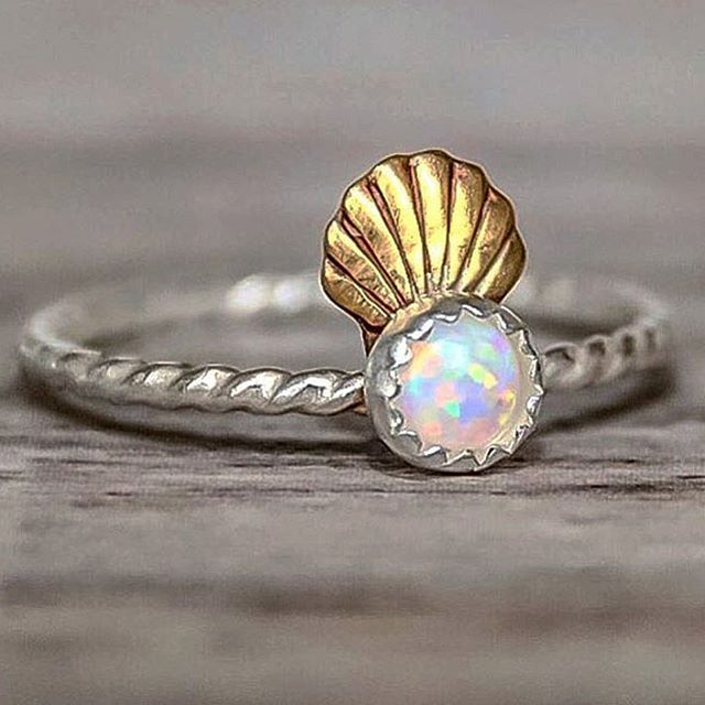 Mermaid Shell Crown and Opal Ring | Bohemian Jewelry | Indie and Harper