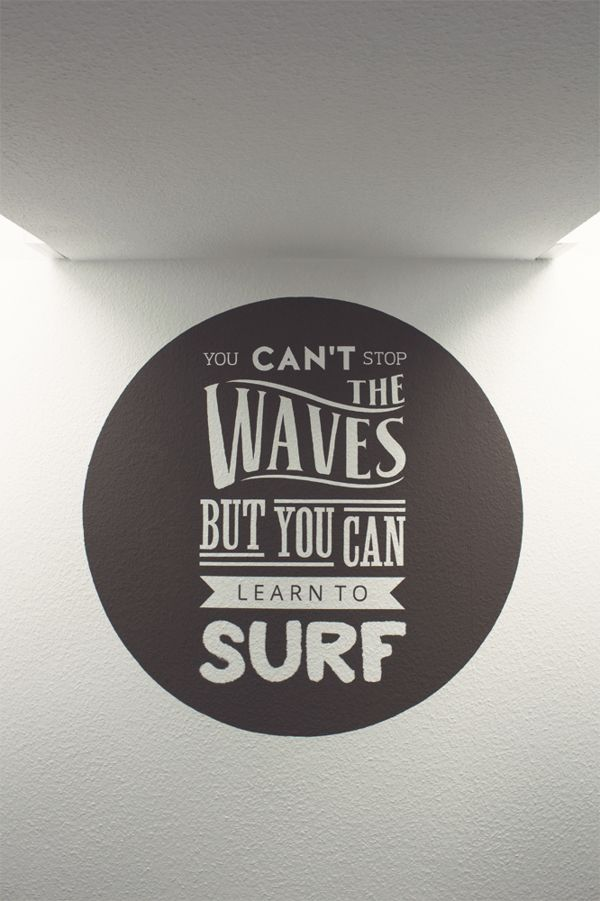 Surfing Quote Mural by Fabrice Spee, via Behance