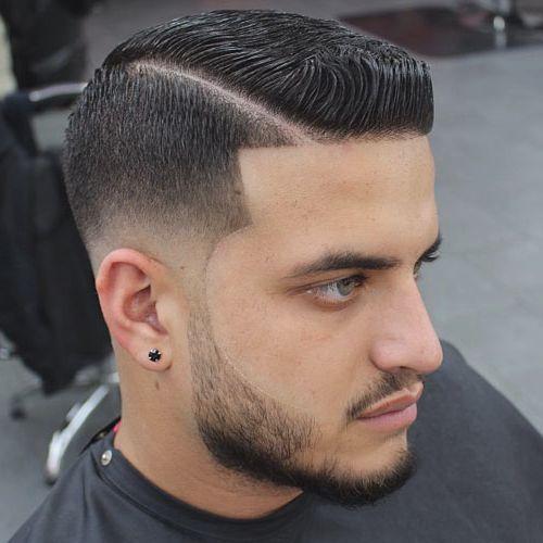 cortes de pelo para hombre raya lado
