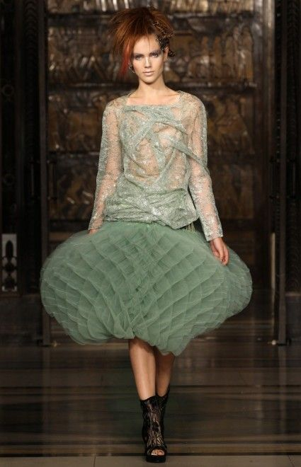 Spring/Summer 2012 collection of Israeli designer Inbar Spector, presented at the London Fashion Week -