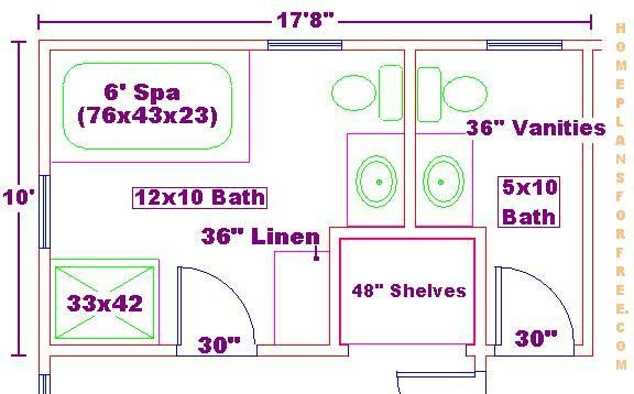 18 best images about bathroom on pinterest walk in for Master bathroom floor plans 10x12