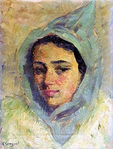 Girl with Tartour - Cesar Gemayel, (born Ain al Touffaha), 1898-1958, Lebanese.