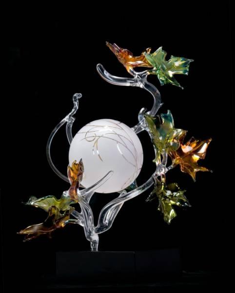 "*Art Glass - ""Autumn Sphere"" by Jacqueline McKinny"