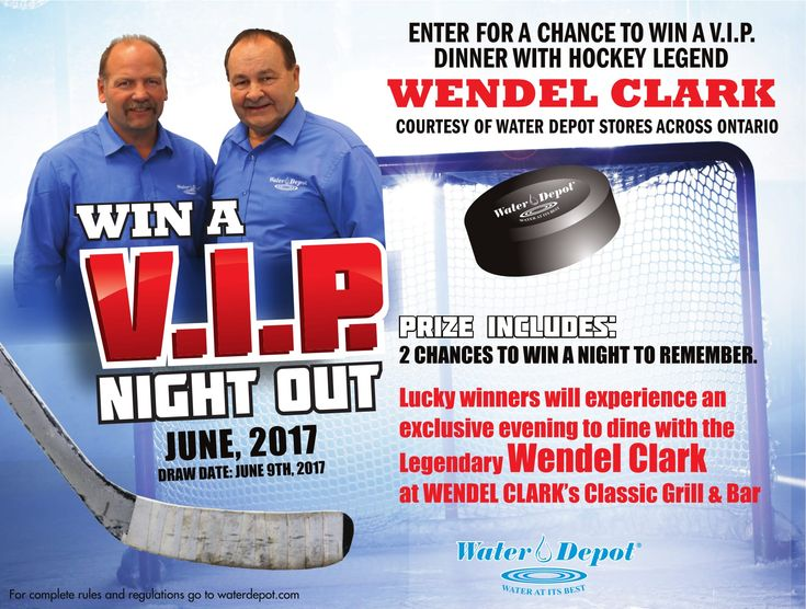 Enter for your chance to dine with the Legendary Wendel Clark at WENDEL CLARK's Classic Grill & Bar.