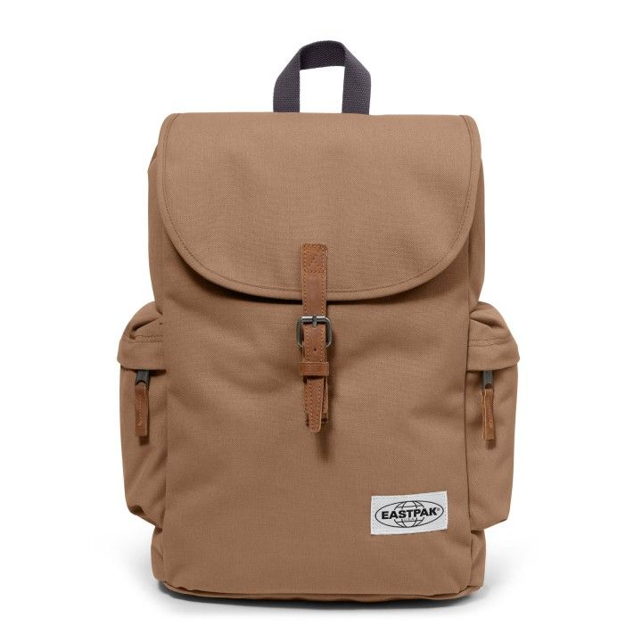 Austin Opgrade Cream Backpacks by Eastpak - Front view