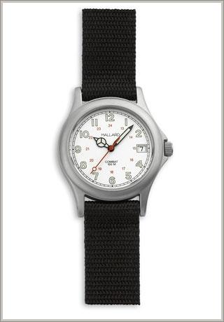 Everything a watch should be. Mallard Combat watch, nylon strap swiss movement.
