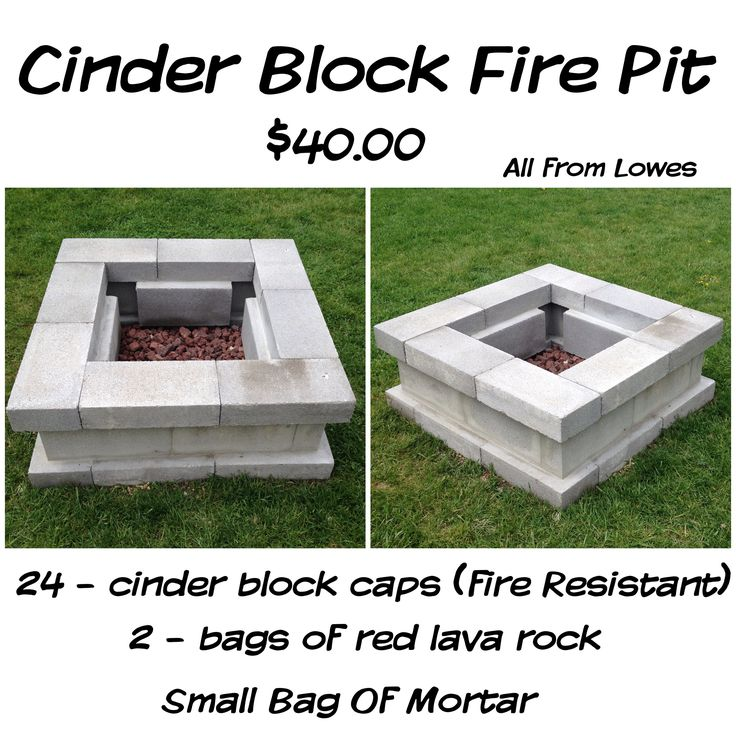 Cinder Block Fire Pit For Just $40 28 Cinder Block Caps (fire Resistant)  Small