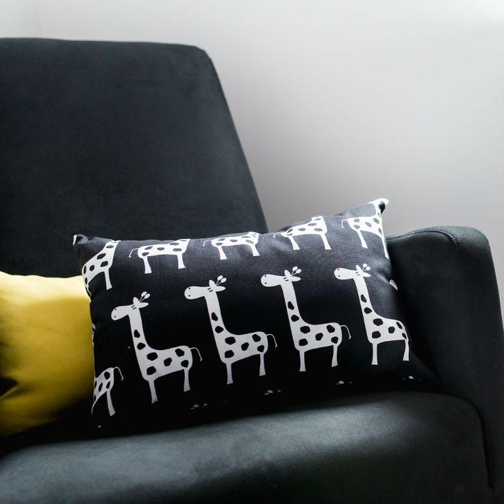 Groovy Giraffe Nursery Pillow