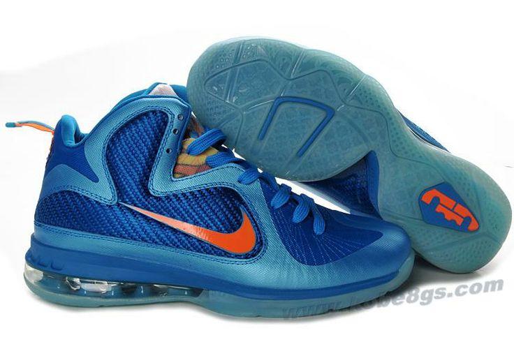 new concept 1db7a 51ebe Nike Lebron 9 NBA Shoes China Blue Orange   Nike Kobe 8 GS   Lebron 9 shoes,  Nike lebron, Lebron 9