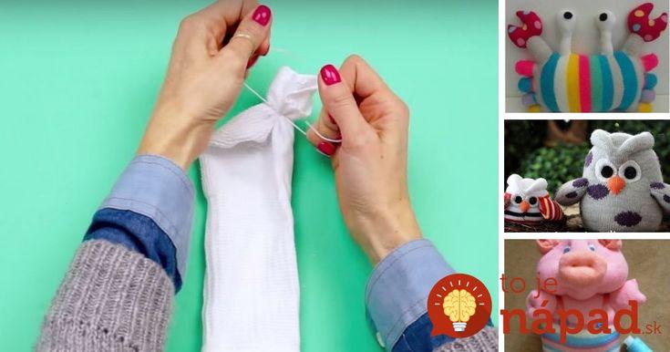 Staré alebo zatúlané ponožky nevyhadzujte. neuveríte, aké utešené veci z nich môžete vytvoriť.