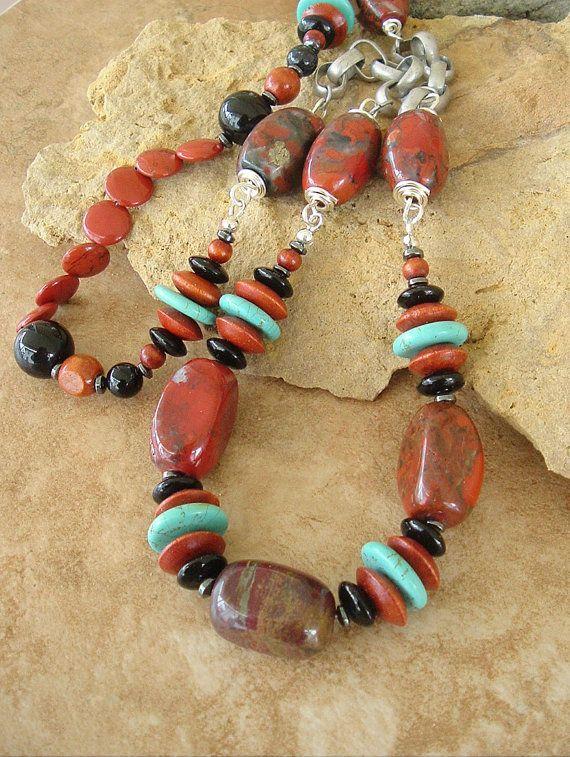 Boho Necklace Southwest Jewelry Turquoise Jewelry by BohoStyleMe