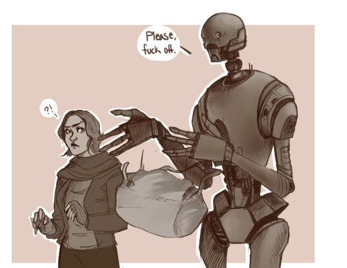 K-2SO Rogue One Star Wars mem ....
