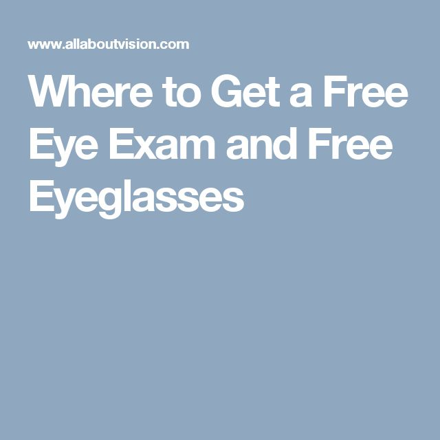 Where to Get a Free Eye Exam and Free Eyeglasses