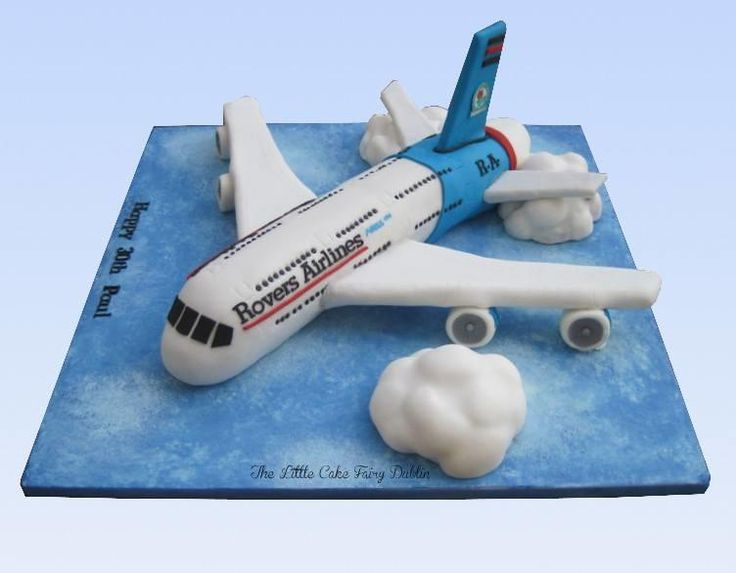 Airbus A380 Aeroplane 30th Cake - Cake by Little Cake Fairy Dublin