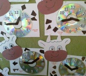 cow clock craft
