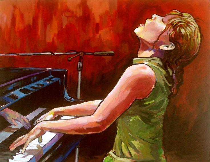 Euterpe-Musa de la música  Fernando Toledo  Acrílico tela  100x120cm  2012  US$ 1,410  EUR 1,090  Galería Montecatini.cl  We ship worldwide