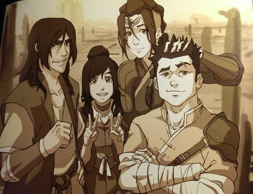 """Bryan Konietzko: """"As one of the primary gatekeepers of what is canon in the Avatarverse, I have to make it clear that Ming-Hua was born without arms, due to a congenital disorder. This is a cool alternate interpretation by Eugene, though!"""" Joaquim Dos Santos: """"If the story did not make you somewhat sympathetic to Zaheer and his gang, then maybe this image, which captures them in an earlier time, before life's trials and tribulations have hardened them, will."""" You..."""