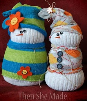 Winter Craft Idea: Sock Snowmen