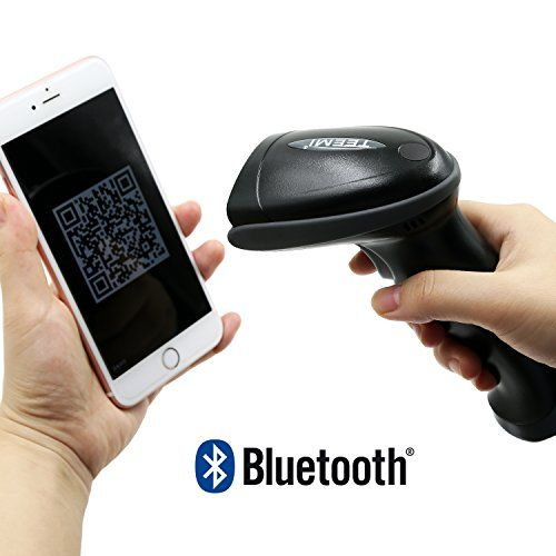 awesome TEEMI Código QR escáner Bluetooth wireless Automatic 2D PDF417 Data Matrix Barcode Scanner for Apple iOS, Android, Window PC and tablets