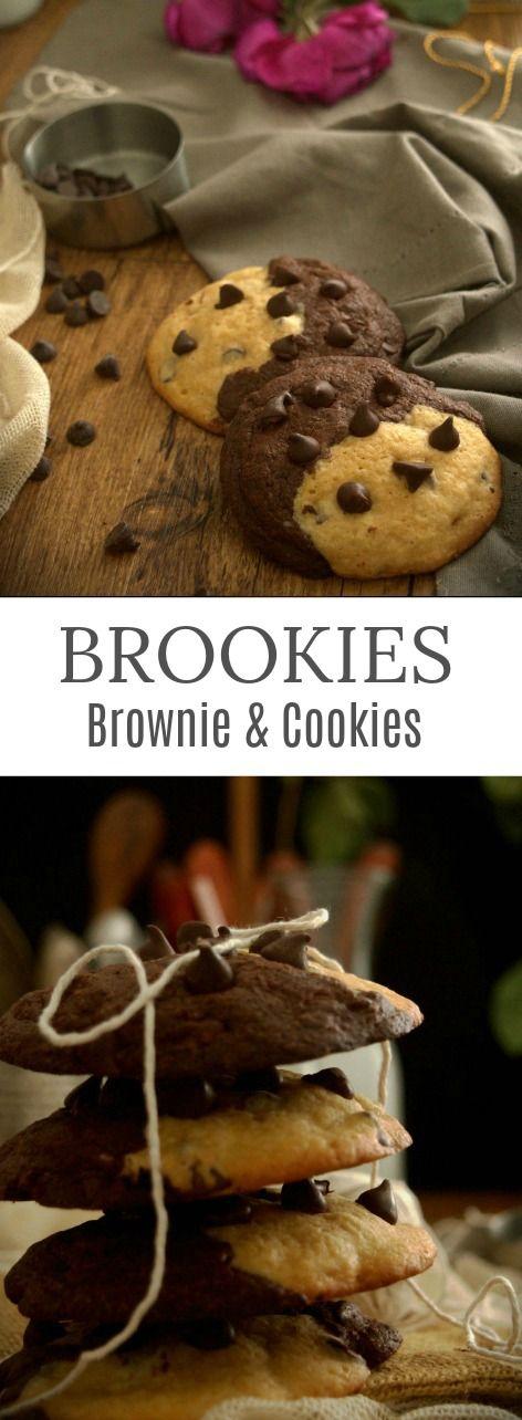 Brookies: Cookies & Brownies In union is perfection - How to photos - Don't miss it!! Patty's Cake Galleta y brownie en uno. No te las pierdas!