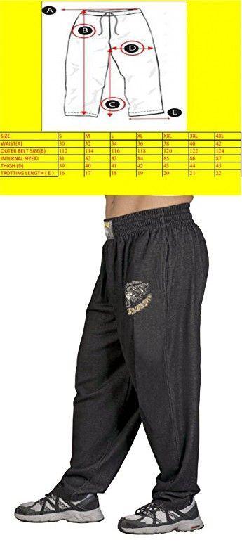 BIG SAM SPORTSWEAR COMPANY Men's Baggy Track Pants Bodypants *862* XXL Black