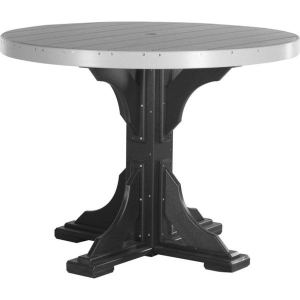 LuxCraft 4u0027 Poly Round Table   Dining, Counter, Or Bar Height ($795) ❤  Liked On Polyvore Featuring Home, Outdoors, Patio Furniture, Outdoor Tables,  Round ...