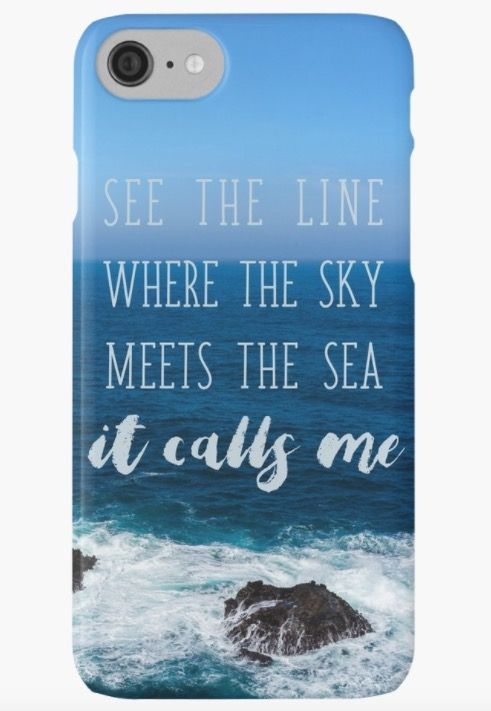 "Moana iphone case or samsung galaxy phone case. ""See the line where the sky meets the see it calls me"""