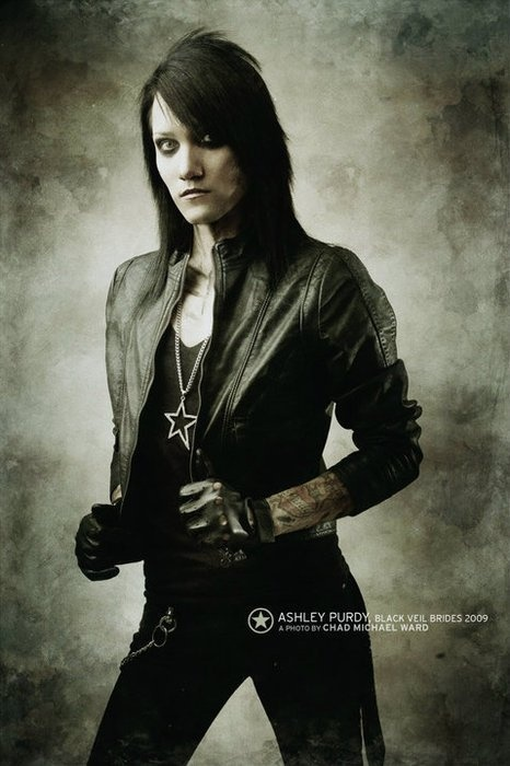 Ashley Purdy, bassist for the Black Veil Brides.  Extremely talented, gorgeous, and now my hero because bassist.