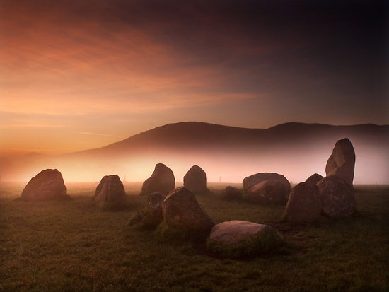 Castlerigg Stone Circle on a misty autumn morning. By Dave Hudspeth. I love this photo.