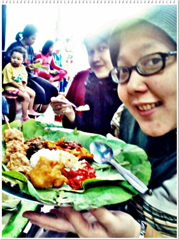 Nasi Jamblang, Cirebon Traditional Food. West Java Indonesia