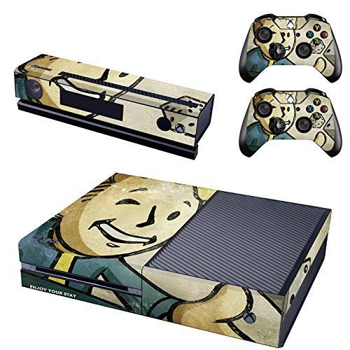 CloudSmart Vault Boy Approved Skin Sticker of Fallout 4 for the Xbox One Console With Two Wireless Controller Decals - Vault Boy