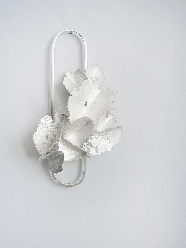 "Andra Lupu - brooch, 925 silver, ""Crushed"" collection"