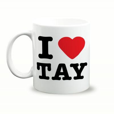 I Love Tay Gift Mug & Box by HairyBaby.com