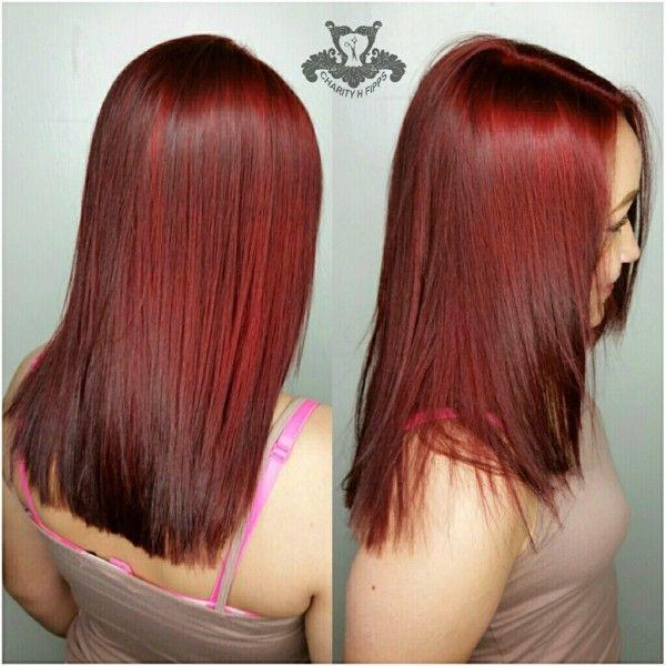 Vibrant Velvet Red🔽Hair Color Correction Service - http://sarasotabradentonhairsalon.com/vibrant-velvet-red%f0%9f%94%bdhair-color-correction-service/
